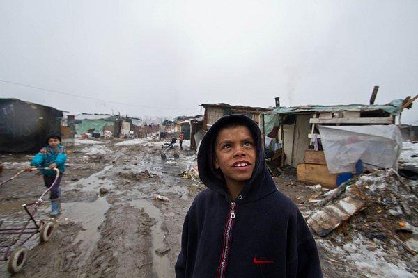 Image result for Kosovo gypsy slum